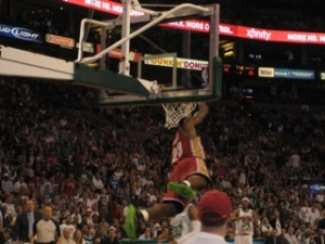 Will we see Lebron dunking home feeds from Kyrie in the future? Both Lebron photos taken by me.